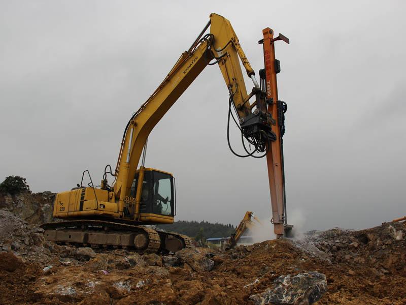 挖掘机改装钻机的使用价值是什么?